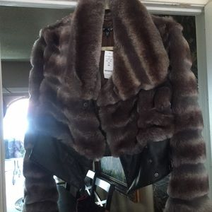 Bebe faux fur jacket